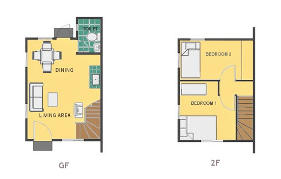 Mikaela Floor Plan House and Lot in Naga