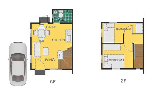 Reva Floor Plan House and Lot in Naga