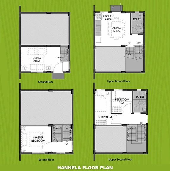 Hannela Floor Plan House and Lot in Naga