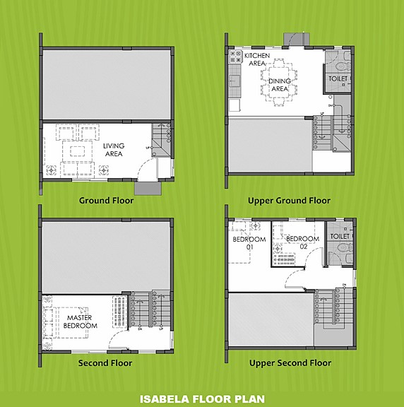 Isabela Floor Plan House and Lot in Naga