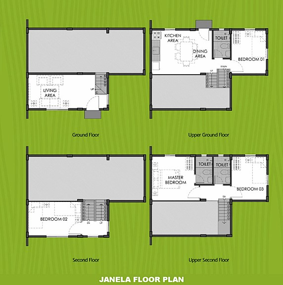 Janela Floor Plan House and Lot in Naga