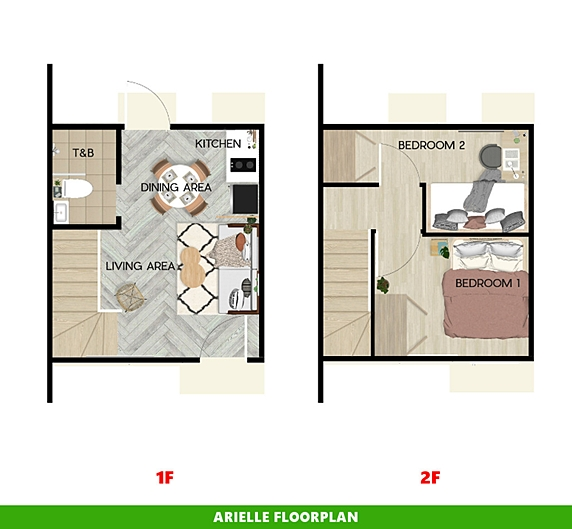 Arielle Floor Plan House and Lot in Naga