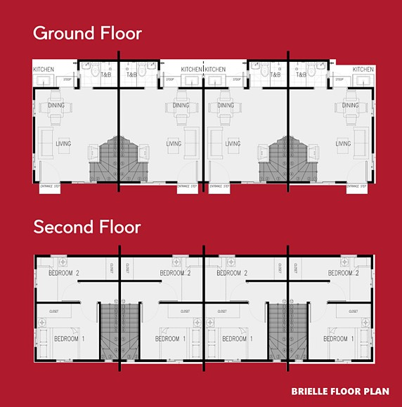 Brielle Floor Plan House and Lot in Naga