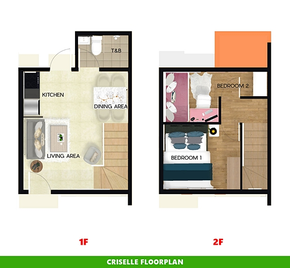 Criselle Floor Plan House and Lot in Naga