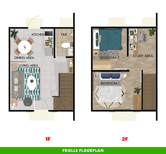 Frielle Floor Plan House and Lot in Naga